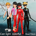 4pcs/lot Miraculous Ladybug Comic Lady bug Girl Doll Box Action Figure Toys Cute Vinyl Anime Birthday Gifts Toys for Children