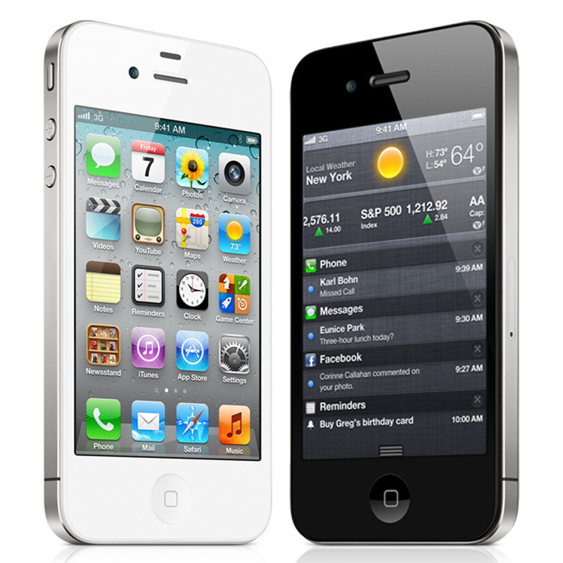 Apple iPhone 4S factory Unlocked Mobile Phone ios  Touchscreen 16GB 3G WIFI GPS 8MP 1080P IPS free shipping free gift