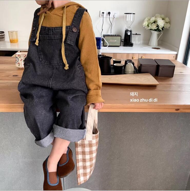 2019 Neue Mode Mädchen Jungen Denim Overalls Frühling Jungen Mädchen Lange Hosen 2-7 T Po24 Komplette Artikelauswahl Overalls