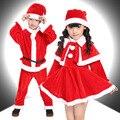 2017 nuevo bebé de la navidad mameluco del muchacho de navidad set niños dress kid de navidad de santa claus traje de la navidad de los niños dress conjunto