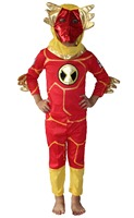 Red 3 7 Years Boy Burning Man Model Role Playing Cosplay Halloween Costumes Kid Burning Man
