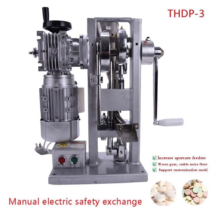 Automático de un solo golpe máquina de la prensa de la tableta Manual DIY de hierbas en polvo prensado herramienta píldora que hace la máquina