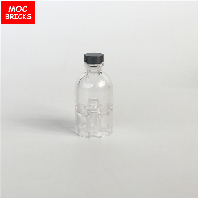 10pcs lot moc bricks diy food utensils trans clear drinking bottle