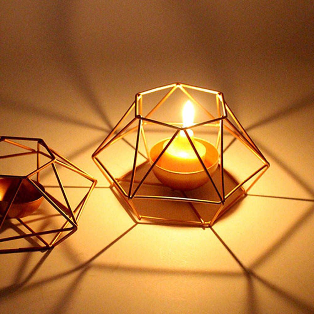 Украшение для дома геометрические железные подсвечники настенные канделябры украшения бра соответствующие Tealight сталь минималистский Свадебная вечеринка