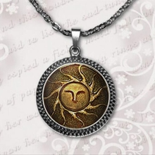 Glass Dome Pendant For Jewelry Heirs of the Sun Dark Souls II Necklace Glass Cabochon Necklace wholesale  A-076-1 HZ1