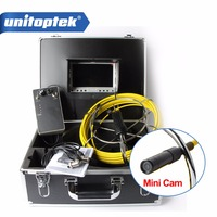 20M Drain Endoscope Pipe Inspection Camera Pipe Sewer Camera Waterproof Pipe Plumbing Camera 12Pcs White Lights