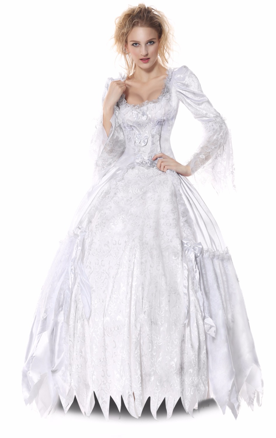 white evil queen cosplay costumes gown princess halloween costume