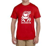2017 New Zlatan Ibrahimovic T-Shirt Men Short Sleeve O Neck fashion 100% cotton T-shirts  fans gift 0219-7