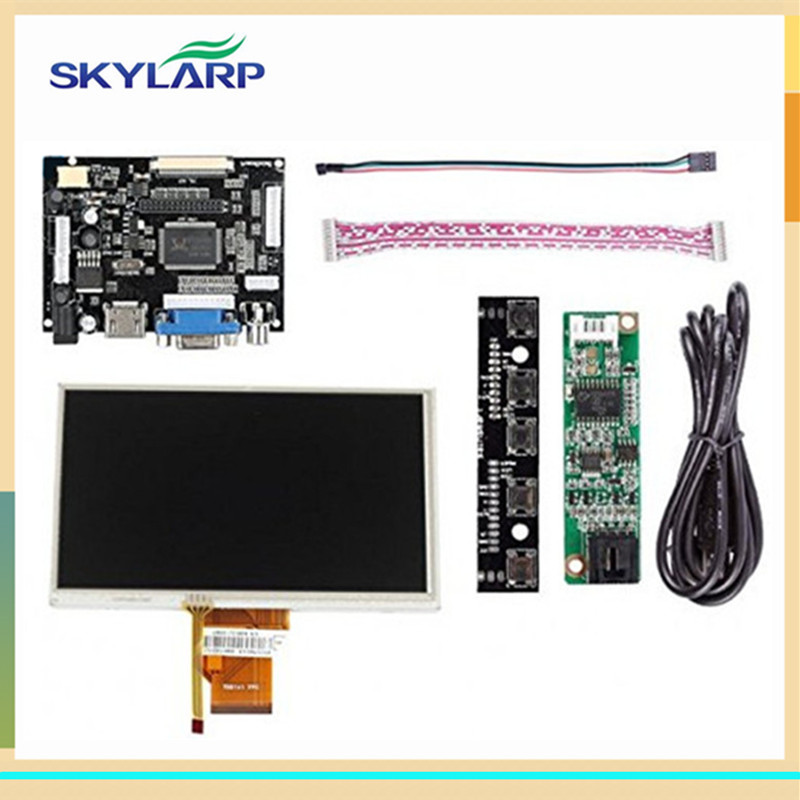 skylarpu 7 inch LCD Display Touch Screen TFT Monitor AT070TN90 with HDMI VGA Input Driver Board Controller for Raspberry Pi 10pcs 7 inch lcd display monitor 800 480 for raspberry pi driver board hdmi vga 2av size 165 100mm