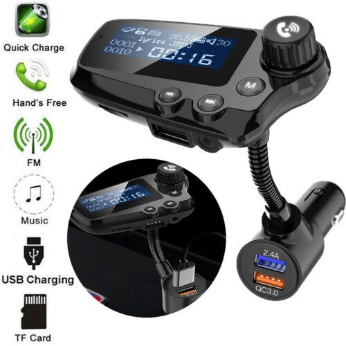 Bluetooth 5.0 Handsfree Wireless Car FM Transmitter MP3 Player & USB Kit