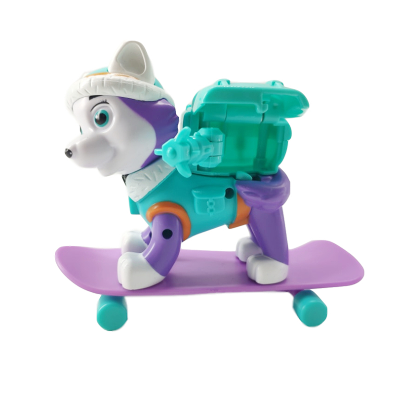 Paw Patrol Everest Skateboard Dog Puppies Patrol Rescue Toys PVC Anime Figure Action Model Doll Toys Kids Birthday Gift in Action Toy Figures from Toys Hobbies