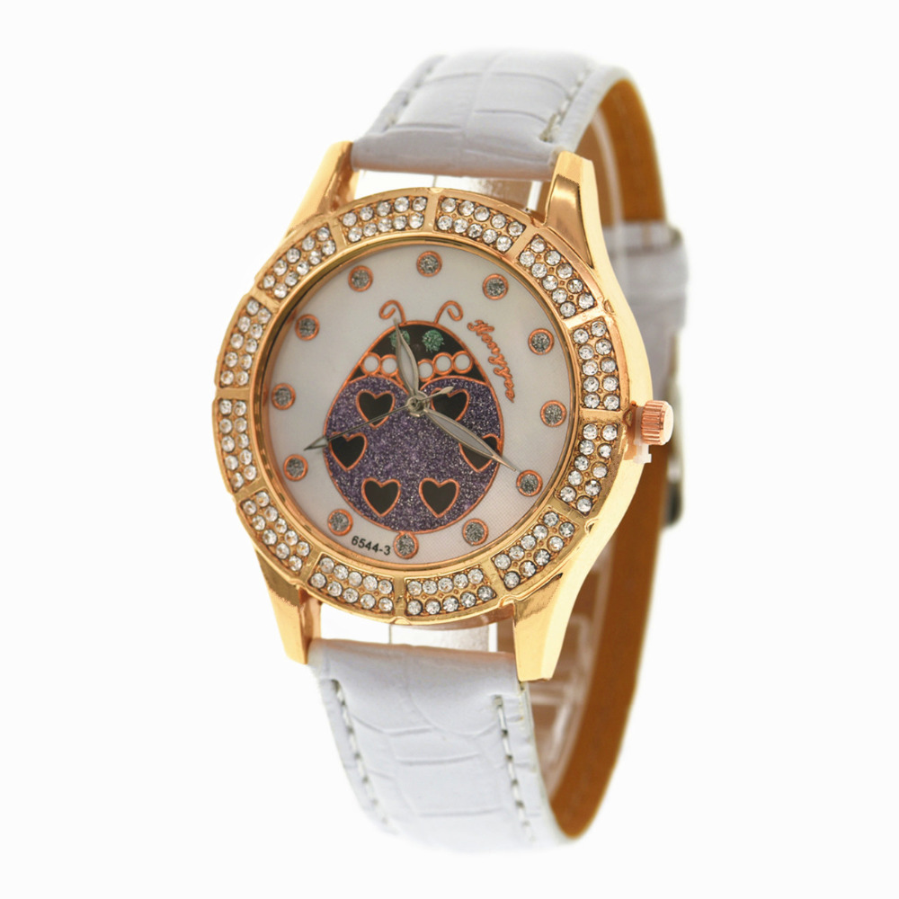 Wrist watch on discount - 100pcs Lot Hy 6544 New Love The Beatles Fashion Girls Student Wristwatch Cheap Powder