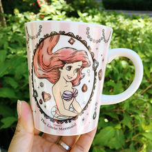 Original de la nueva Llegada de La Sirena Alice Enredado Minnie de Dibujos Animados Taza de Leche Tazas de Café de Porcelana Regalo
