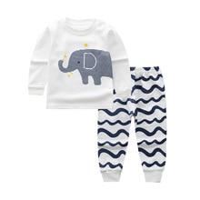 Детская Хлопковая одежда для сна для новорожденных; От 0 до 2 лет; детская одежда; Пижамный костюм для маленьких девочек и мальчиков; одежда для сна с рисунком для младенцев; пижамный комплект