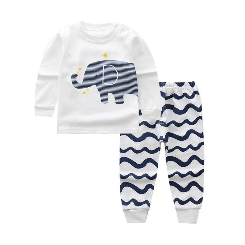 Newborn Children Cotton Sleepwear 0-2Y Kid Clothes Baby Girls Boys Pajamas Suit Infant Cartoon Print Nightwear Sleep Sets Pyjama
