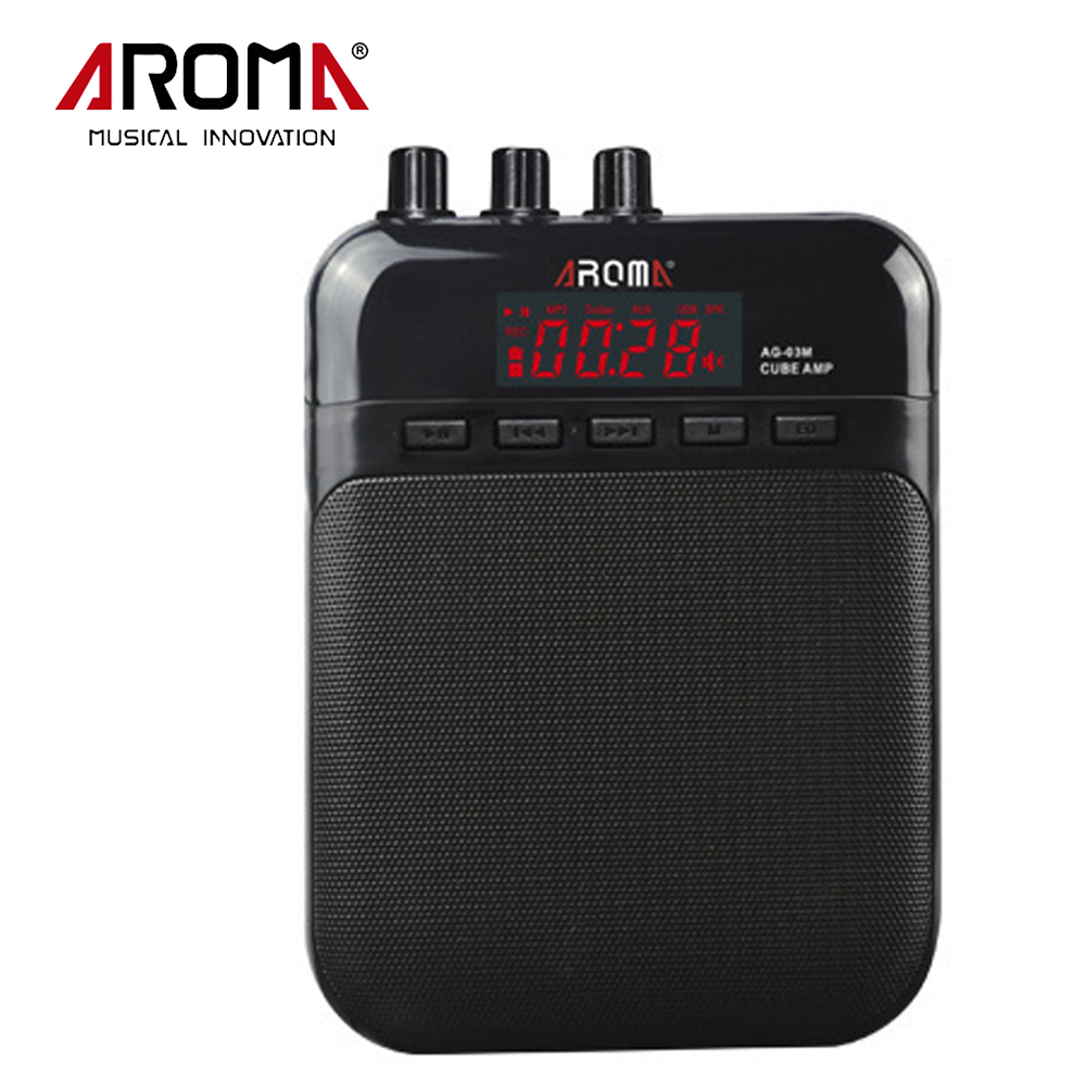 Aroma AG-03 Rechargabl Guitar Amp Recorder Speaker TF Card Slot Compact Portable Multifunction Guitar Amplifier