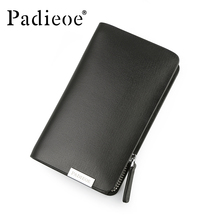 Padieoe 2017 Newlly Luxury Brand Split Cow Leather Unisex Housekeeper Designer Mens Key Bag High Quality Wallet