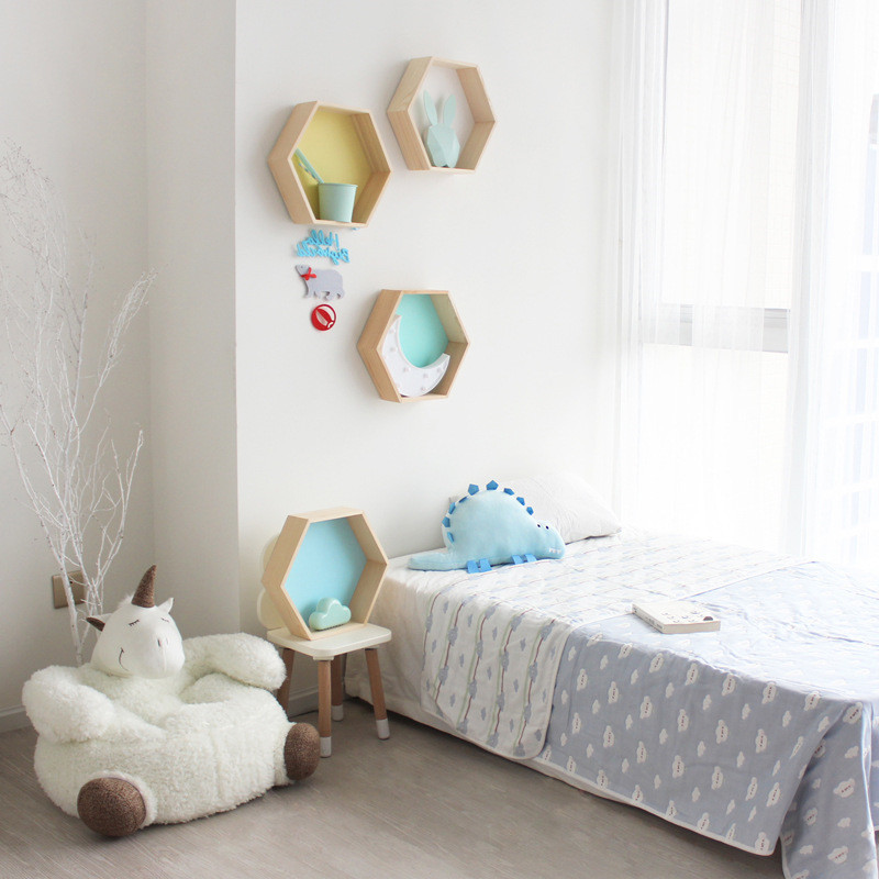 Baby-Room-Wooden-Hexagonal-Shelf-Storage-Wall-Decorations-Candy-Organization-Hanger-Photography-Props-Shelves-Storage (2)