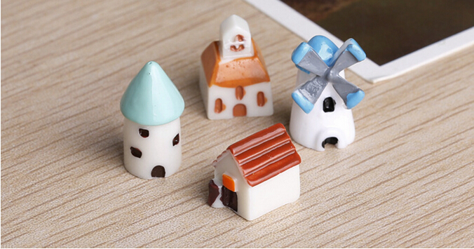 2set arrival 4pcs/set cute kid doll baby Doll Action Figures with Mini castle church hut ...
