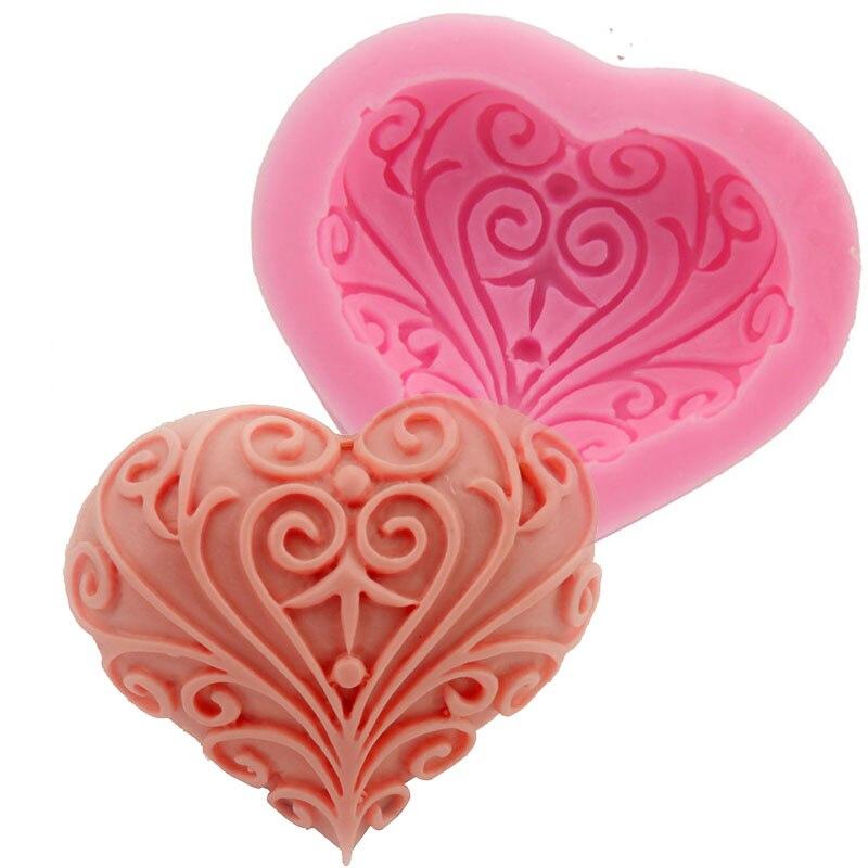 boda del amor del corazn forma del molde de silicona decoracin de la torta para