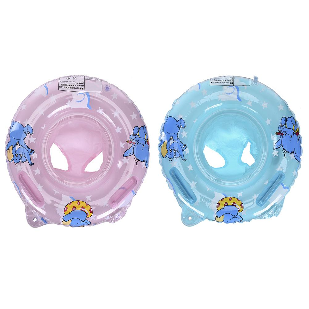 New Double Handle Safety Baby Seat Float Swim Ring Inflatable Infant Kids Swimming Pool Rings Water Toys Swim Circle For Kids
