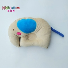 Infant Newborn Baby Pillow Sleep Positioner Prevent Flat Head Shape Support High Quality 100% Cotton Soft Elephant Bed Toy