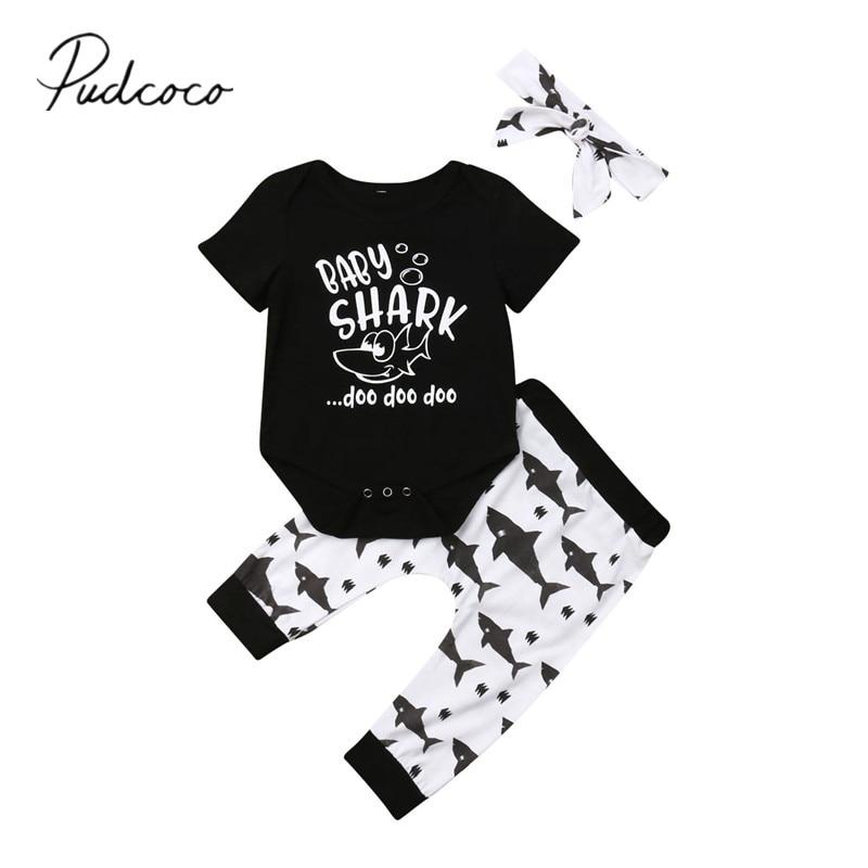 Clothing Headband Outfit Pants Romper Short-Sleeve Newborn Infant Baby-Girls-Boys Summer