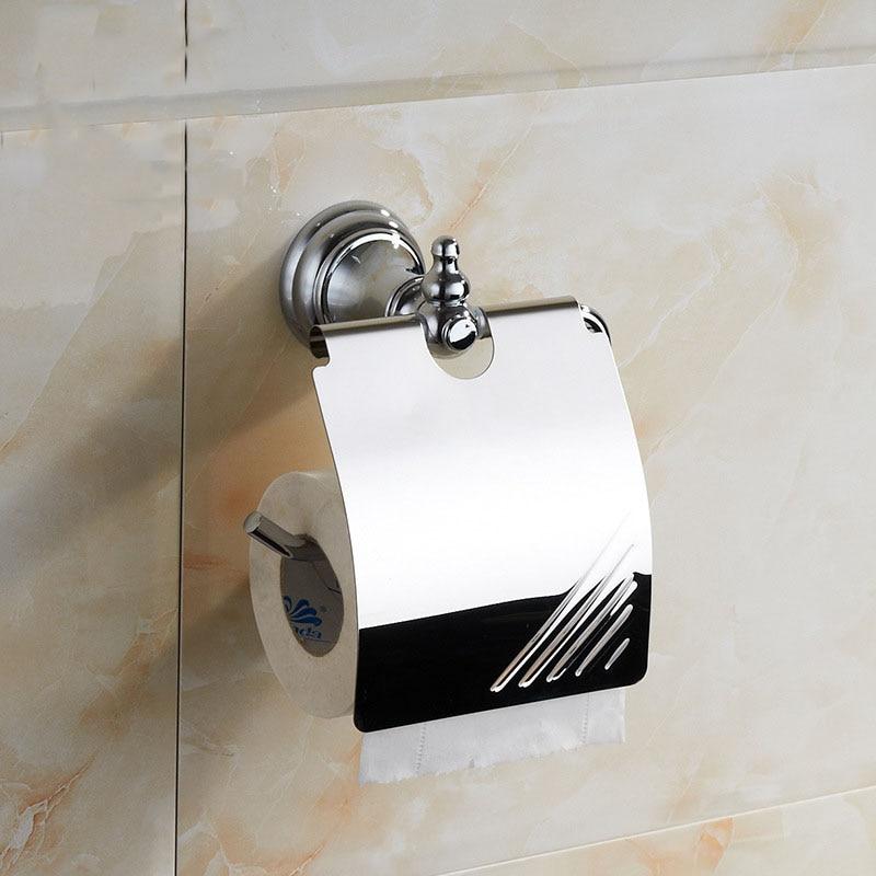 ФОТО Toilet paper holder waterproof stainless steel wall mounted chrome wc roll paper racks bathroom accessories papel higienico
