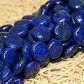 Hermosa Indigo Lapislázuli piedra 12mm Natural Coin loose Beads fabricación de La Joyería diy de la alta calidad 15 pulgadas MY4576
