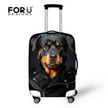 FORUDFESIGNS Thick Elastic Travel Luggage Protective Covers for 18-30 Inch Cases Animal Dog Rain Dust Cover for Trolley Suitcase