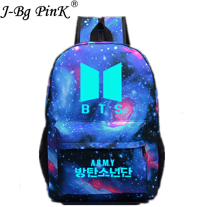 2017 Moonlight Korean New Women Pokemon Backpack BTS Printing School Bag for Teenage Girls Boys Travel Bag Nylon Mochila Galaxia children school bag minecraft cartoon backpack pupils printing school bags hot game backpacks for boys and girls mochila escolar