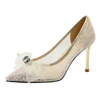 2019 New Wedding Shoes Bride Rhinestone Heels Shoes Fetish High Heels Sexy Ladies Pumps Dress Shoes Women Luxury Heels Tacones