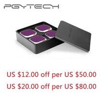 Pgytech mavic 2 pro nd pl 4 pçs conjunto nd 8 16 32 64 pl filtro filtro kit lente filtros para dji mavic 2 pro rc zangão acessórios