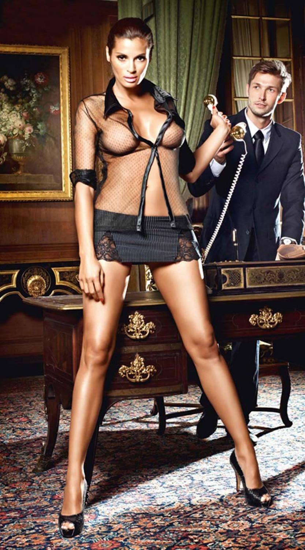 Hot Sexy Women See Through Sexy Shirt Wear Transparent -4765