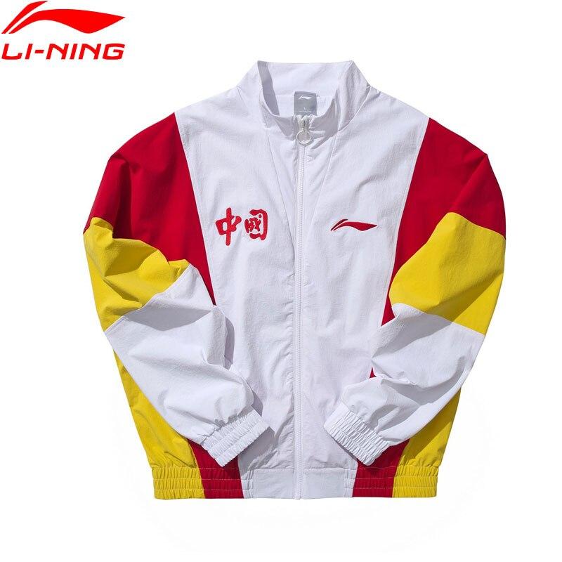 Li-Ning Men The Trend Jacket Loose Fit 86% Nylon 14% Spandex Retro LiNing Li Ning Sport Wind Jackets Coats AJDP039 MWJ2614