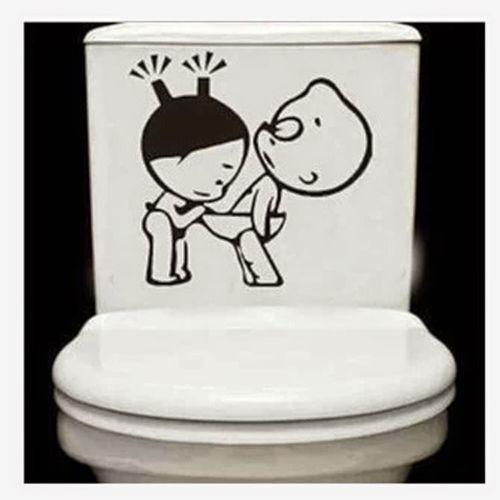 cartoon toilet sticker silhouette portrait wc wallpaper small bathroom  decor china things. cartoon toilet sticker silhouette portrait wc wallpaper small