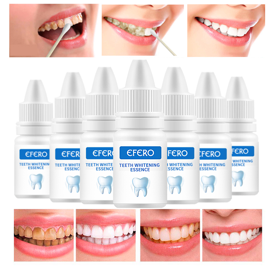 1PCS Teeth Whitening Essence Essential Oils Oral Hygiene Bleaching Serum Removes Cleaning Stains Essence White Teeth Dental Tool