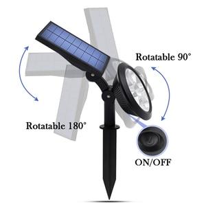 Image 2 - Upgraded Solar Spotlights Waterproof Adjustable 9 LED Wall/Landscape Solar Lights Colorful Solar Lamp for Yard Lawn Garden