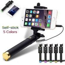 Selfie StickสำหรับiPhone 6S Plus Se 5 5S Huawei Samsung Xiaomi Selfy Stickโทรศัพท์มือถือPalo Perche selfie Palo Selfie Para Movil