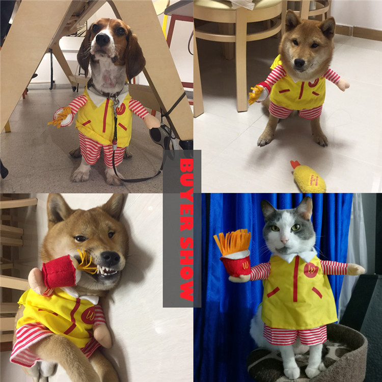 Funny Small Cats Clothes Dogs Clothing Waiter Halloween For Dress Pets Cat Costume Products katten kleding vetement chat 5