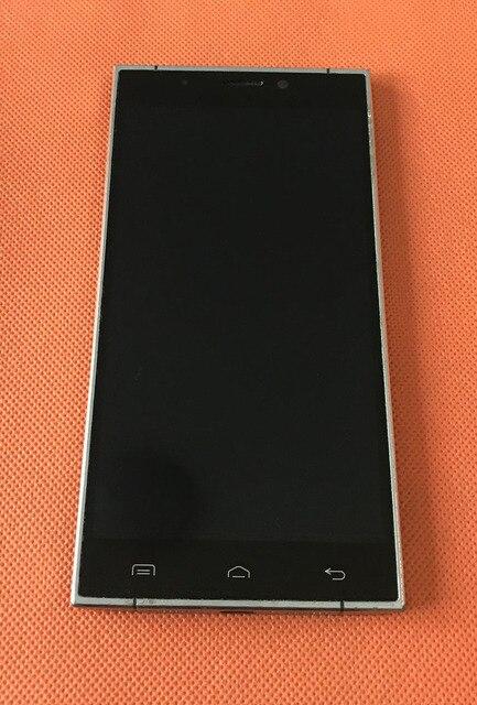 """เก่าจอแสดงผล LCD + หน้าจอสัมผัส + กรอบสำหรับ Doogee F5 4G LTE 5.5 """"MTK6753 Octa core FHD 1920x1080 จัดส่งฟรี"""