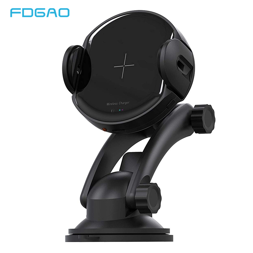 FDGAO 15W Qi Car Wireless Charger For IPhone XR XS Max X 8 Automatic Phone Holder Fast