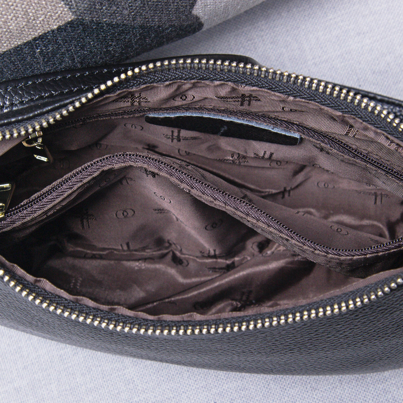 Image 4 - Genuine Leather Small Crossbody Bags For Women Fashion Shoulder  Bag Ladies Messenger Handbags Luxury Crescent Purse Totegenuine leather  hand bagleather hand bagshand bag