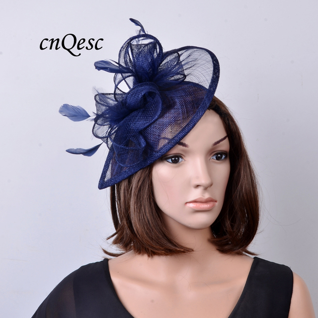 9790a5bd8f9 NEW Wholesale 31 colours Nude pink sinamay fascinator Feather hat for  Kentucky derby