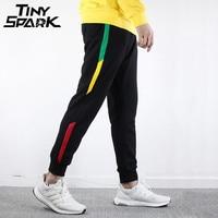 Hip Hop Streetwear Joggesr 2018 Spring Harajuku Sweatpant Men Cotton 100 Sweat Pants Side Striped Trousers