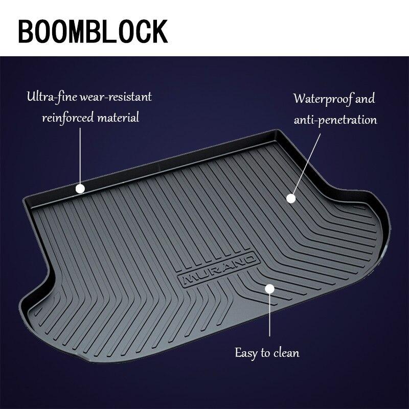 BOOMBLOCK Car Special Trunk Floor Foot Mat Non-slip Dustproof Accessories For Nissan Kicks Livina Murano March K13 Sunny N17 цена и фото