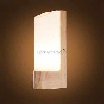 غرفة نوم السرير مصباح الشمال النمط الياباني حصير مصباح شرفة وجيزة الصلبة الخشب الجدار مصباح