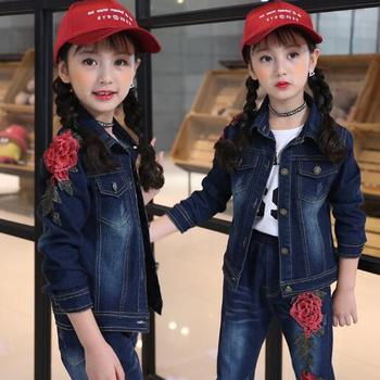 Children Clothes Baby Girls Outwear Jeans Sets Kids Outfits Fashion Cowboy Jacket for Spring Fall Teen Girl Clothing Suit 4-15 Y spring outfits for kids