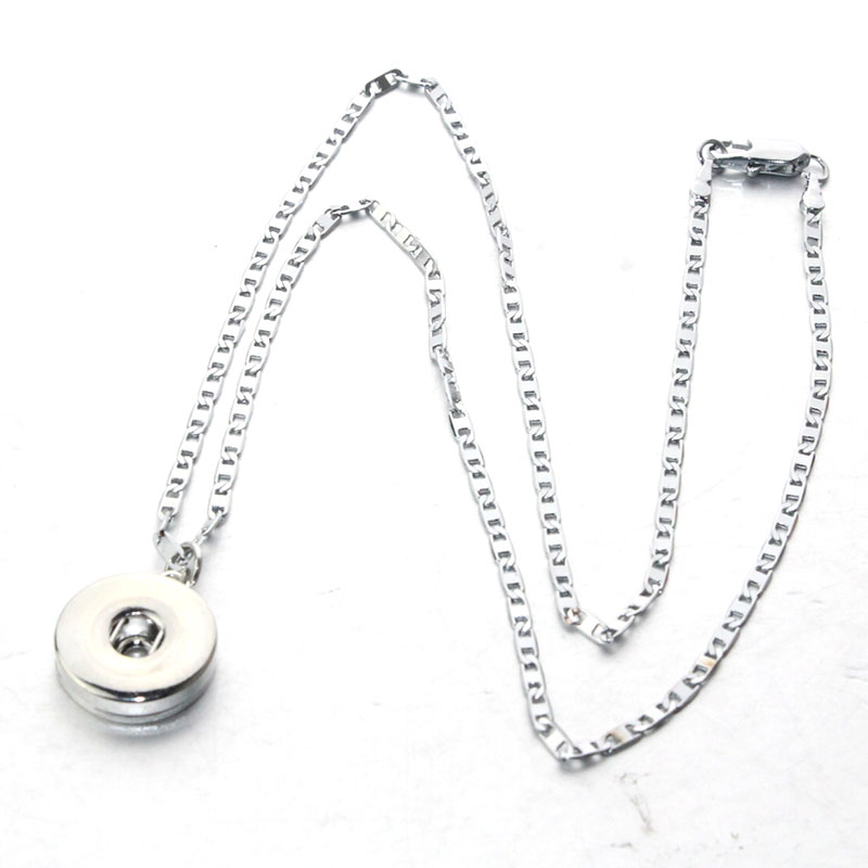 58cm <font><b>Lobster</b></font> clasp choker Pendant fit 18mm snap button pendant button Unisex DIY necklace jewelry Gifts