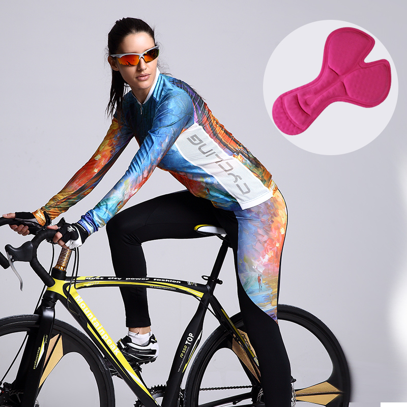 99cae52f4 Mountainpeak 2017 new art long sleeve bike cycling jersey suits men and women  wear pants trousers sunscreen cycling clothing-in Cycling Sets from Sports  ...